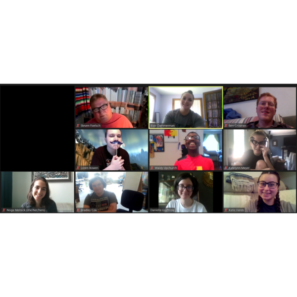 Photo of Zoom meeting with Dream Big students and staff