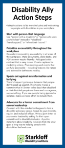 Disability Ally Action Steps