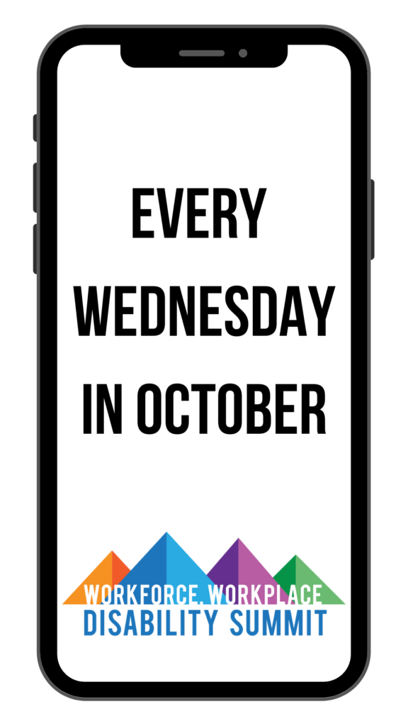 """Phone screen that reads """"Every Wednesday in October"""""""